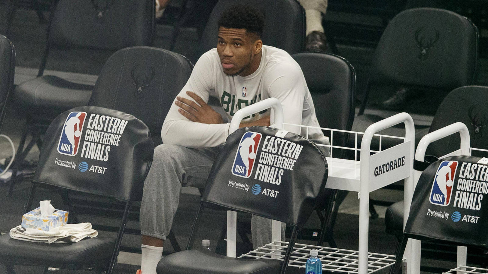 Giannis upgraded to questionable for Game 1 of the NBA Finals