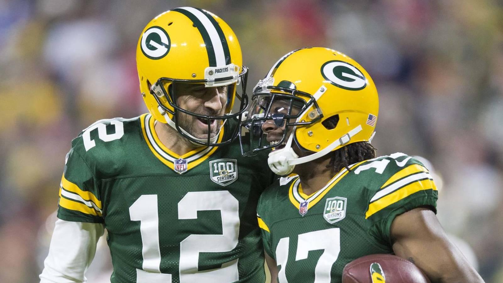 Davante Adams Ex Packers Wr Defend Aaron Rodgers Yardbarker