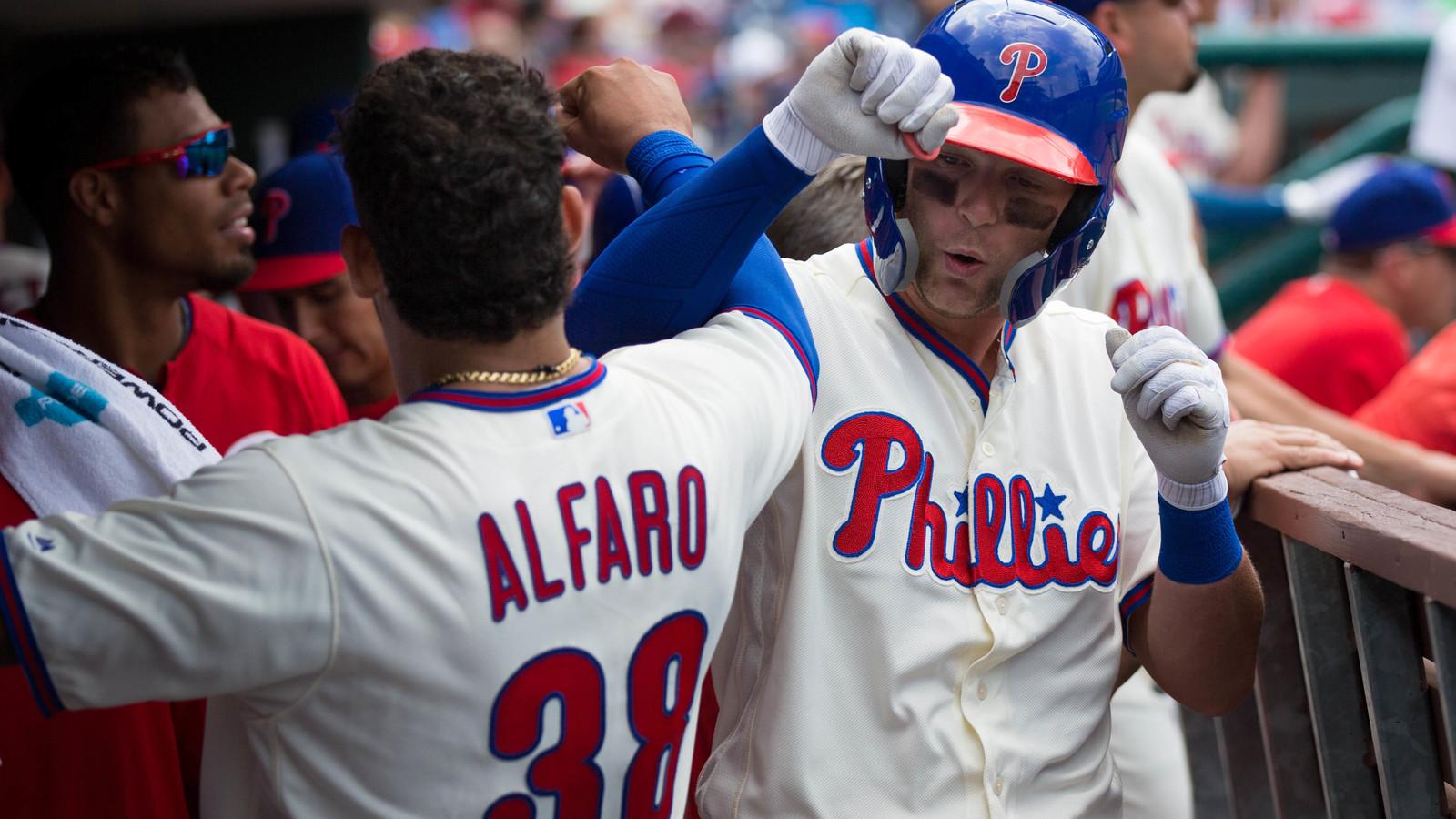 Rhys Hoskins Philadelphia Phillies New Arrivals Legend Baseball Player Jersey