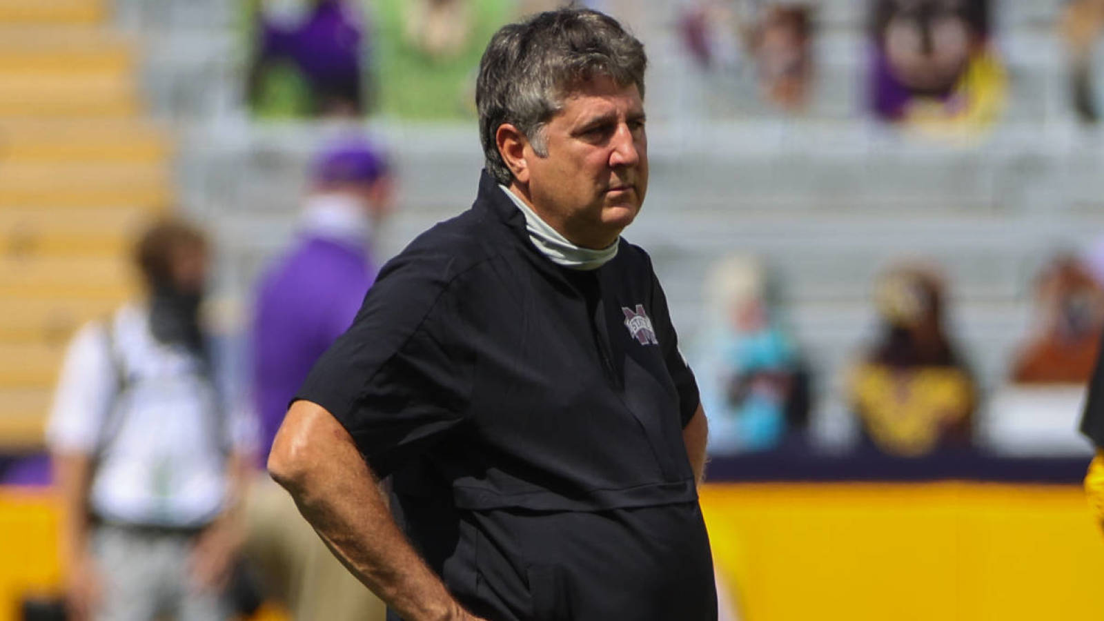 Mike Leach has deep thoughts on cardboard fan cutouts
