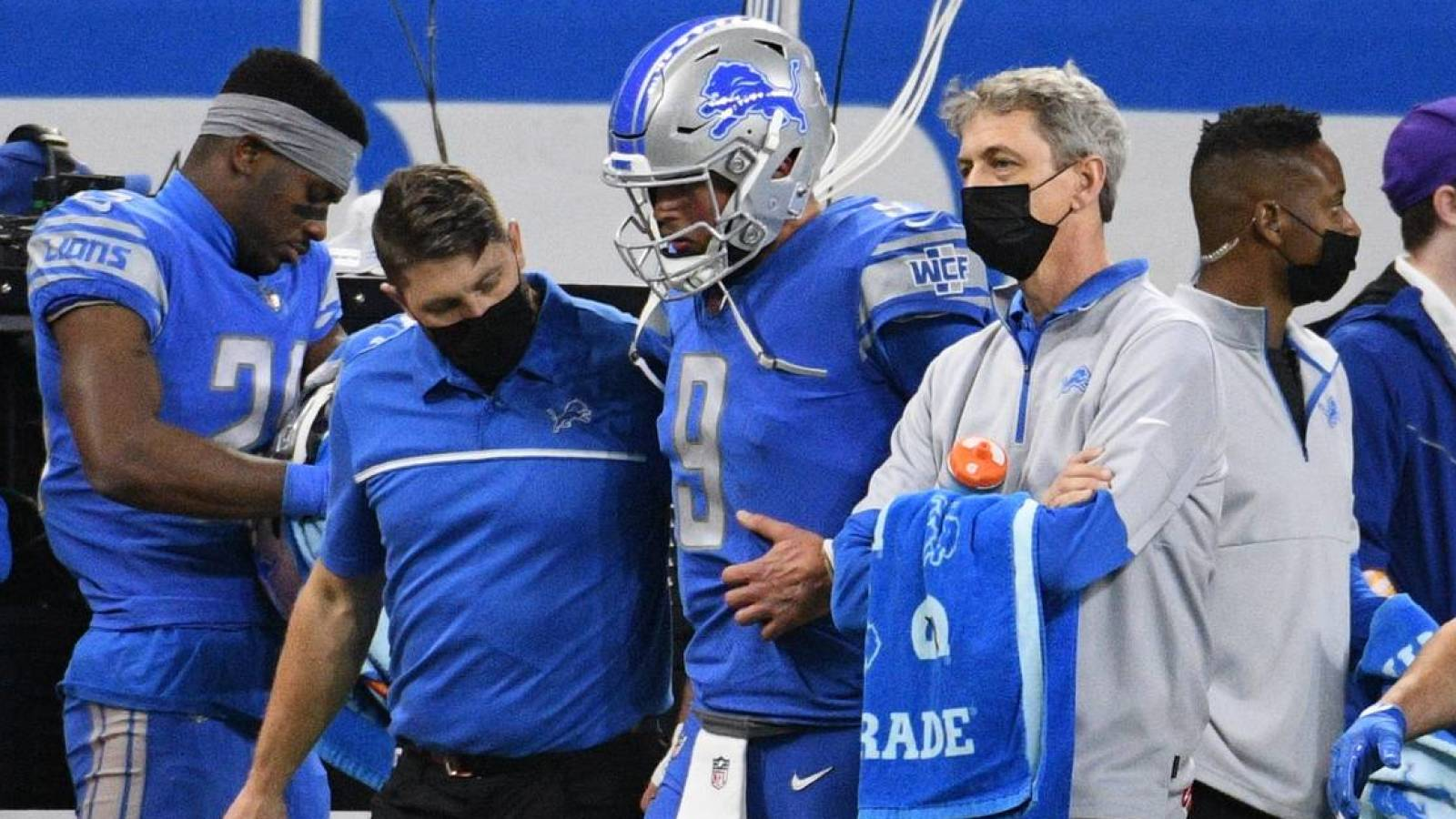 Matthew Stafford questionable vs. Titans | Yardbarker