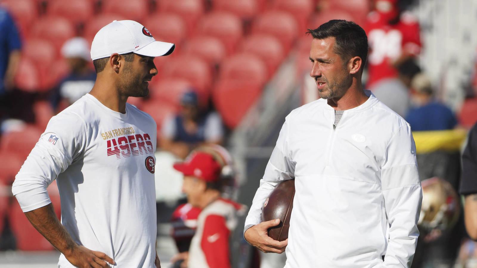 49ers HC Kyle Shanahan supports Jimmy Garoppolo