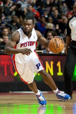 Dec 30, 2012; Auburn Hills, MI, USA; Detroit Pistons point guard Will Bynum (12) during the fourth quarter against the Milwaukee Bucks at The Palace. Pistons won 96-94. Mandatory Credit: Tim Fuller-USA TODAY Sports...
