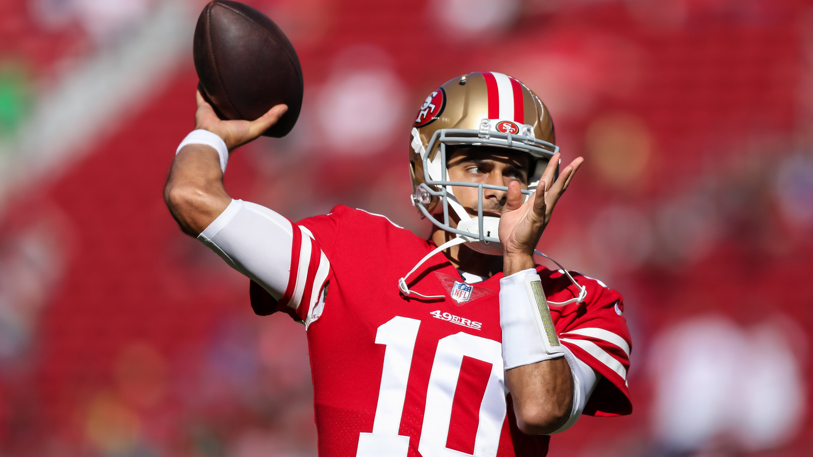 Watch jimmy garoppolo enters game for 49ers throws td for Sf contact nackenkissen small