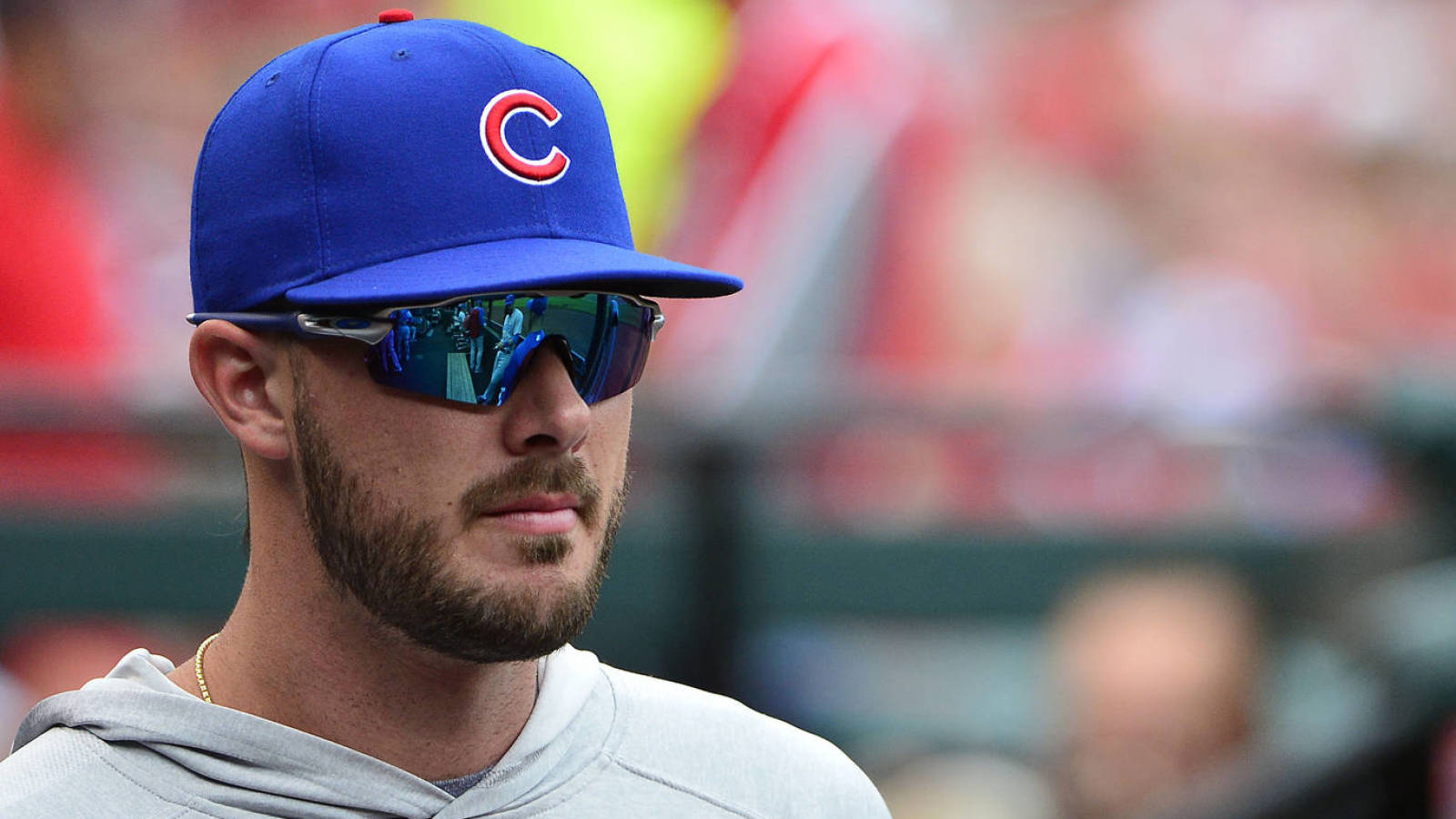 Watch: Kris Bryant nails Ian Desmond on perfect throw from left field