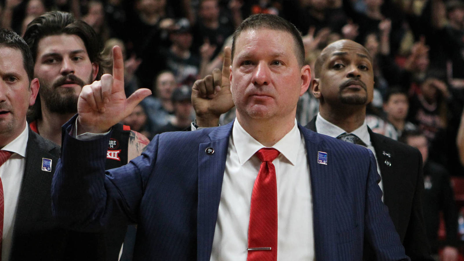Chris Beard makes good on year-old wedding promise for fans