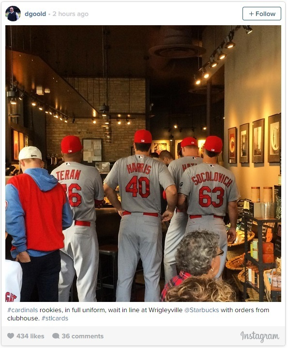 Cardinals Send Rookies To Starbucks To Pick Up Order