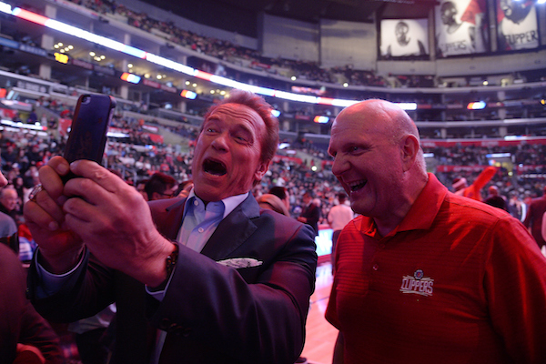 Clippers unveil Chuck the Condor mascot; owner Steve Ballmer dunks