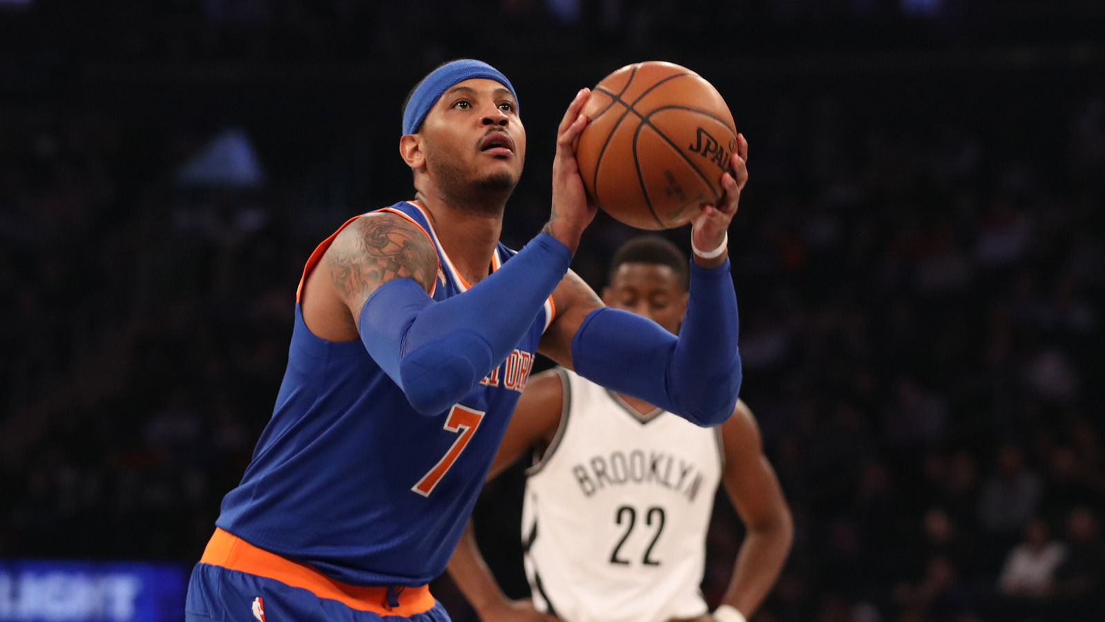 Carmelo anthony knows better than anyone that lebron is for Knights landing fishing report