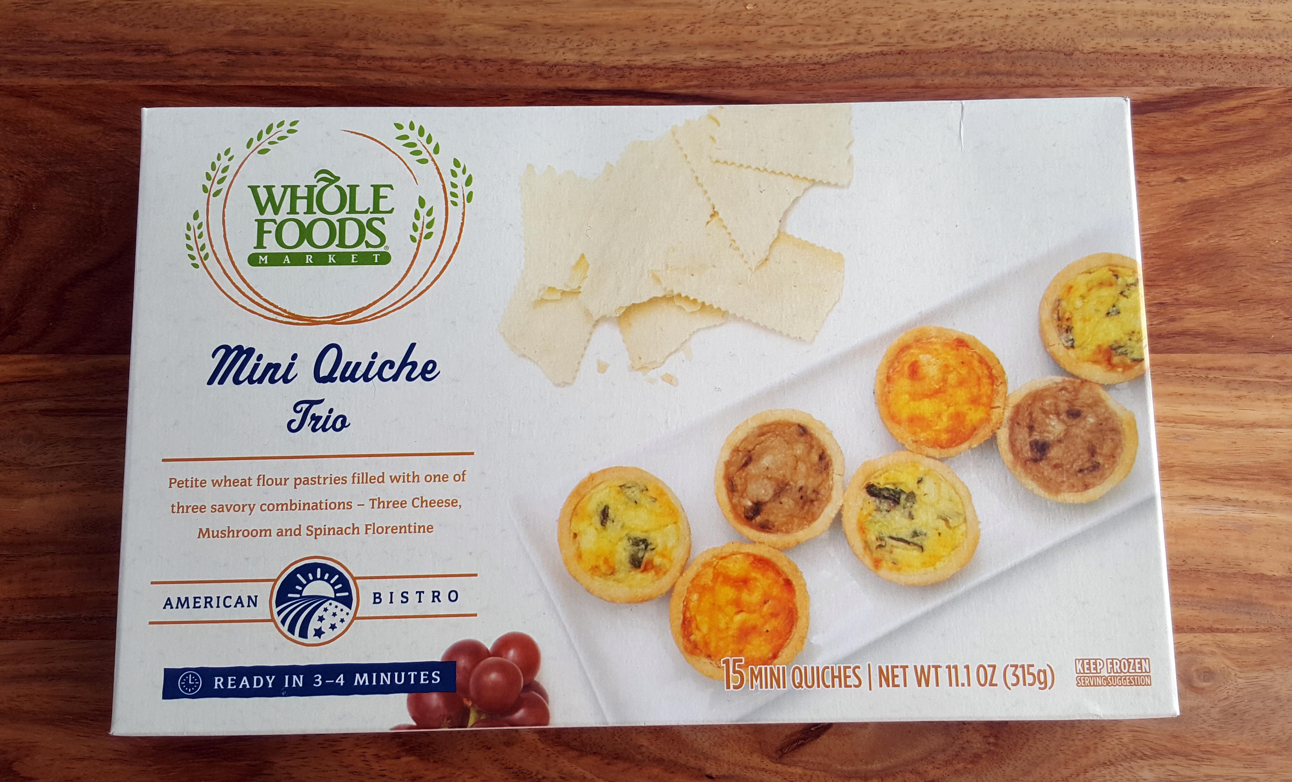 Whole Foods Mini Quiche Trio