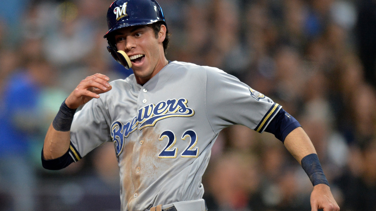 Christian Yelich to miss game with oblique stiffness ... Christian Yelich