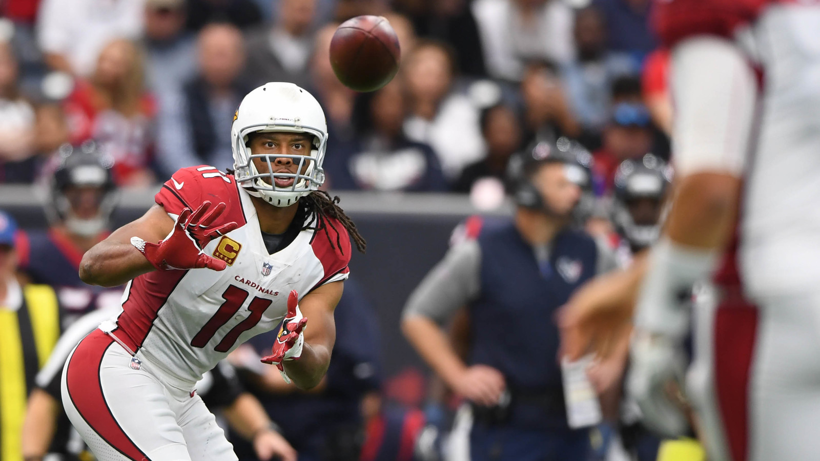Larry Fitzgerald moves up on all time receiving list