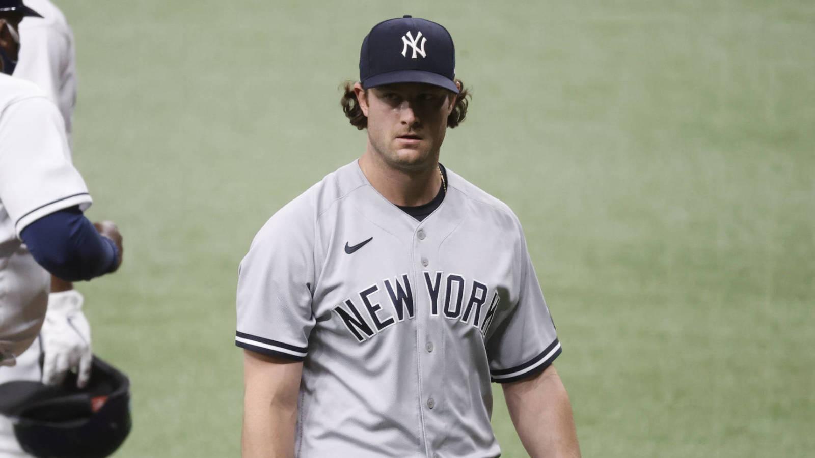 Yankees ace Gerrit Cole doesn't deny handling baseballs