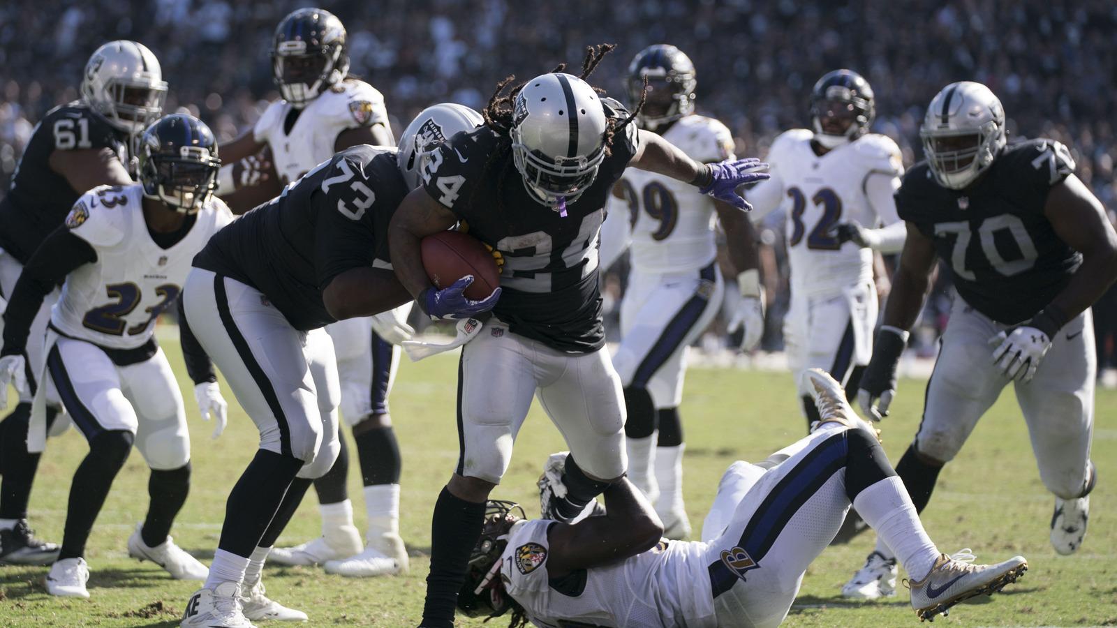 WATCH Marshawn Lynch tramples CJ Mosley on touchdown run
