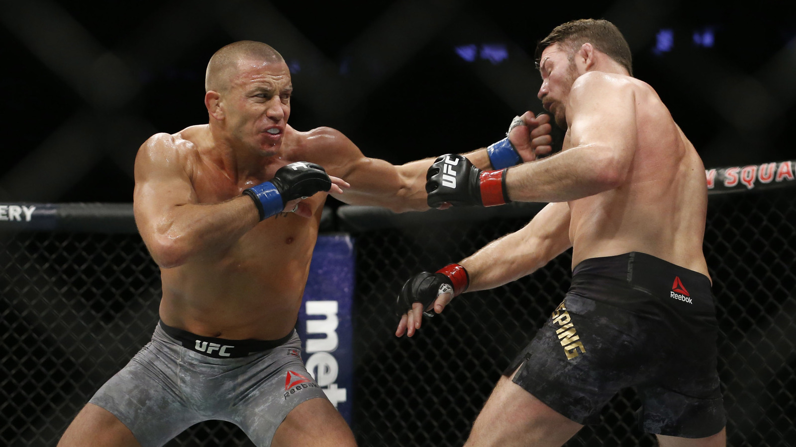 GSP showed that he still got it after four years away from the Octagon.  Noah K. Murray-USA TODAY Sports