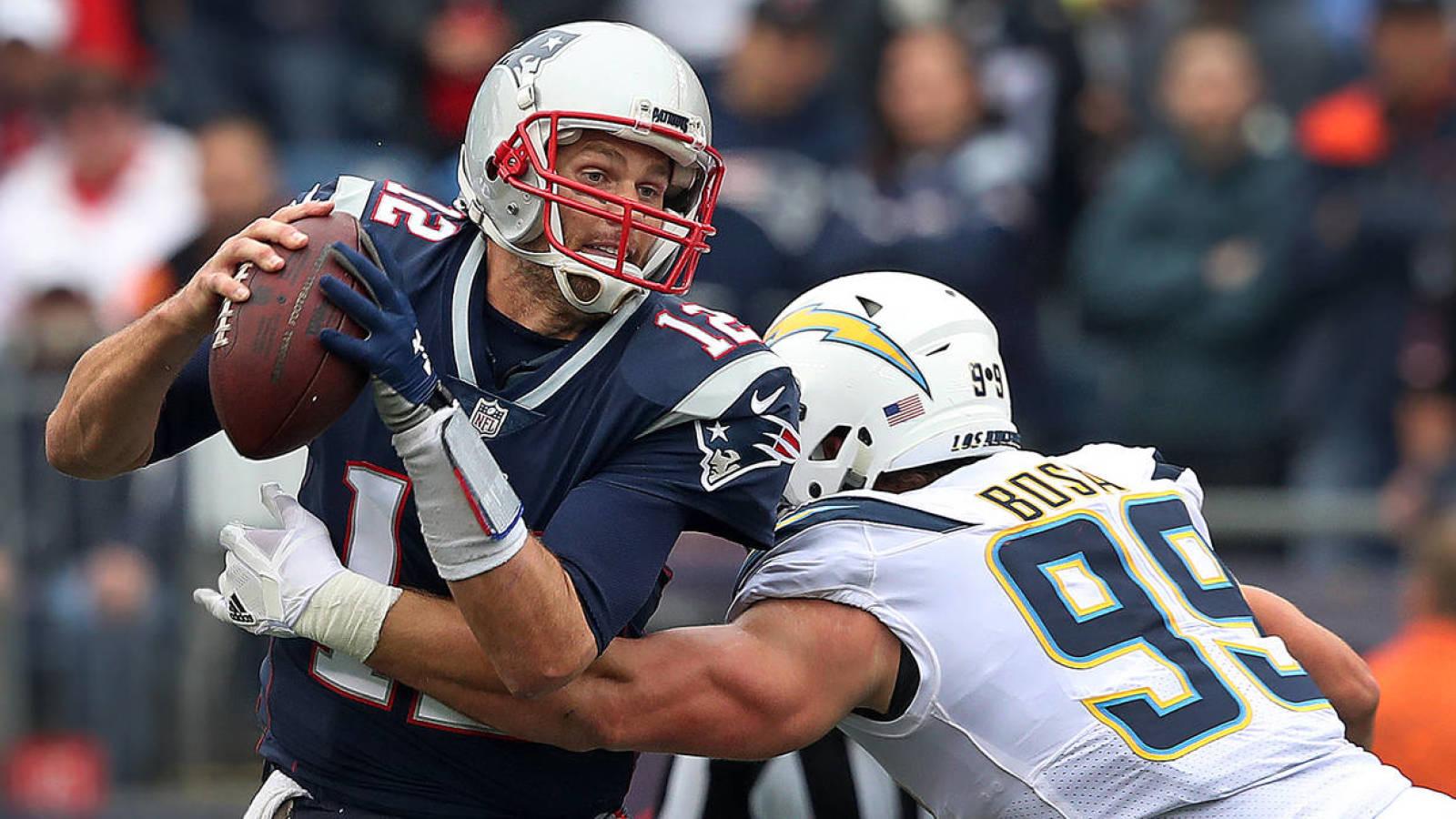 Joey Bosa sacks Tom Brady makes NFL history