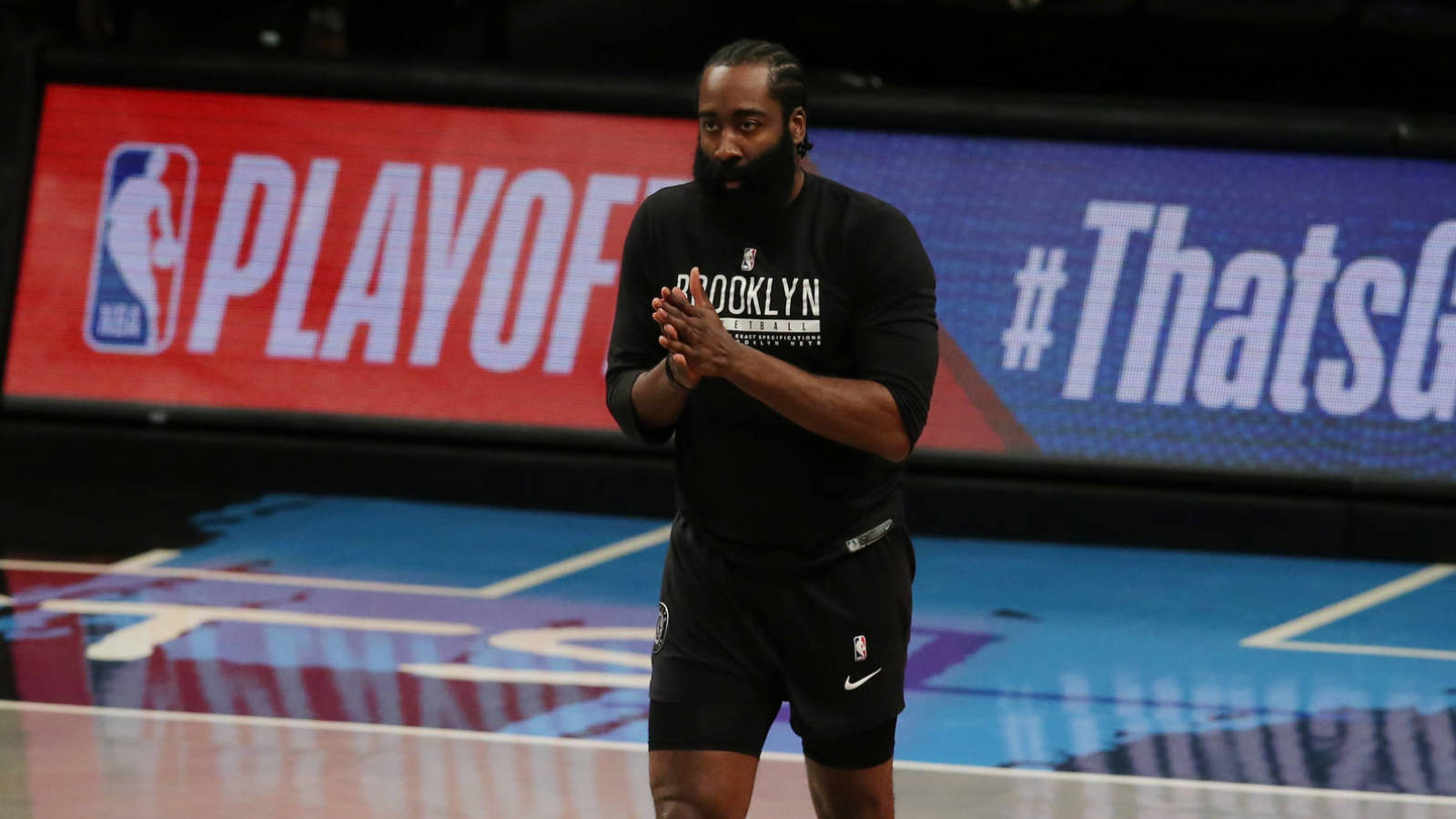 Are the Nets keeping James Harden's hamstring injury a secret?