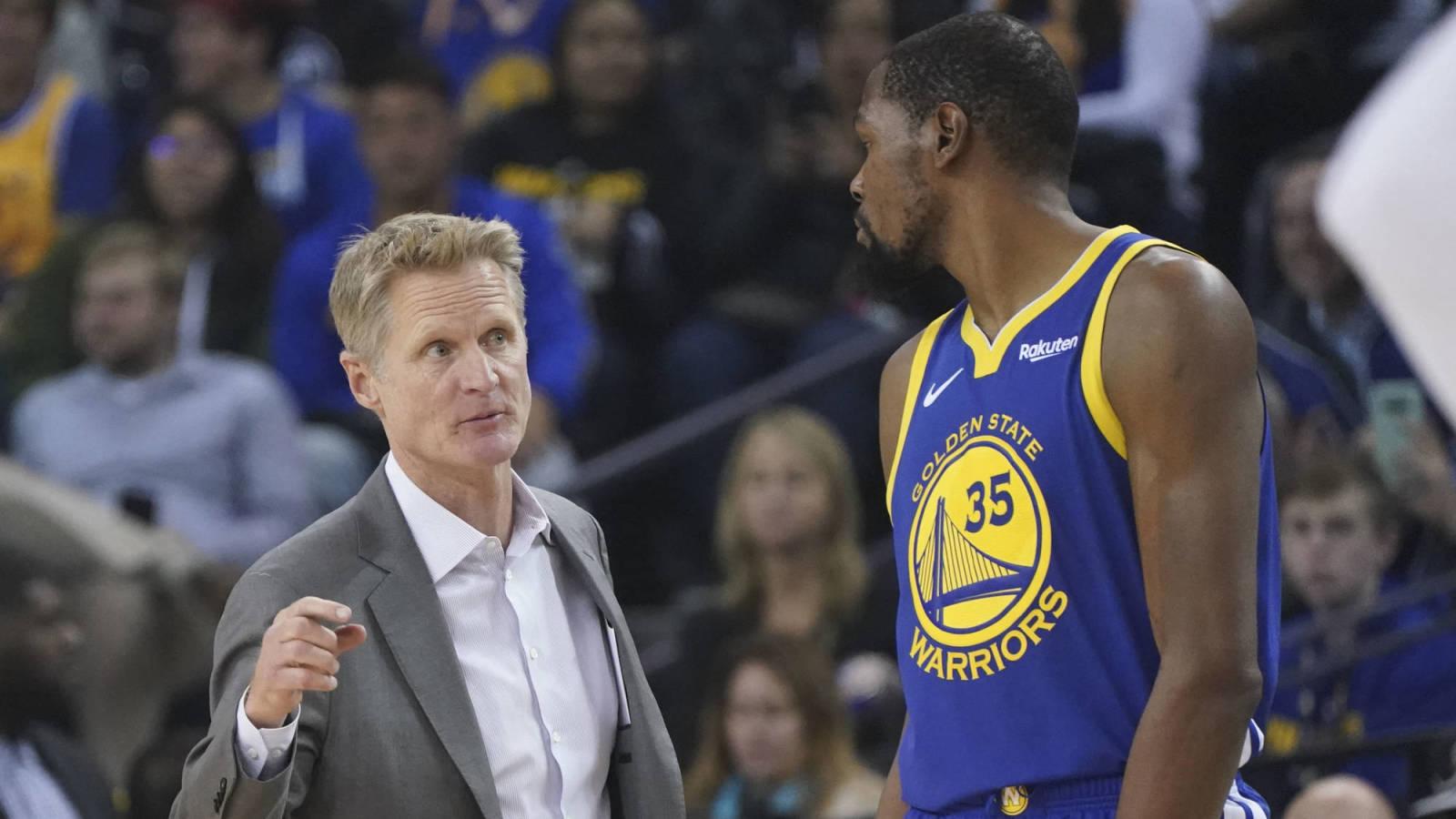 Video surfaces of Steve Kerr motivating Kevin Durant with Michael Jordan-John Paxson story