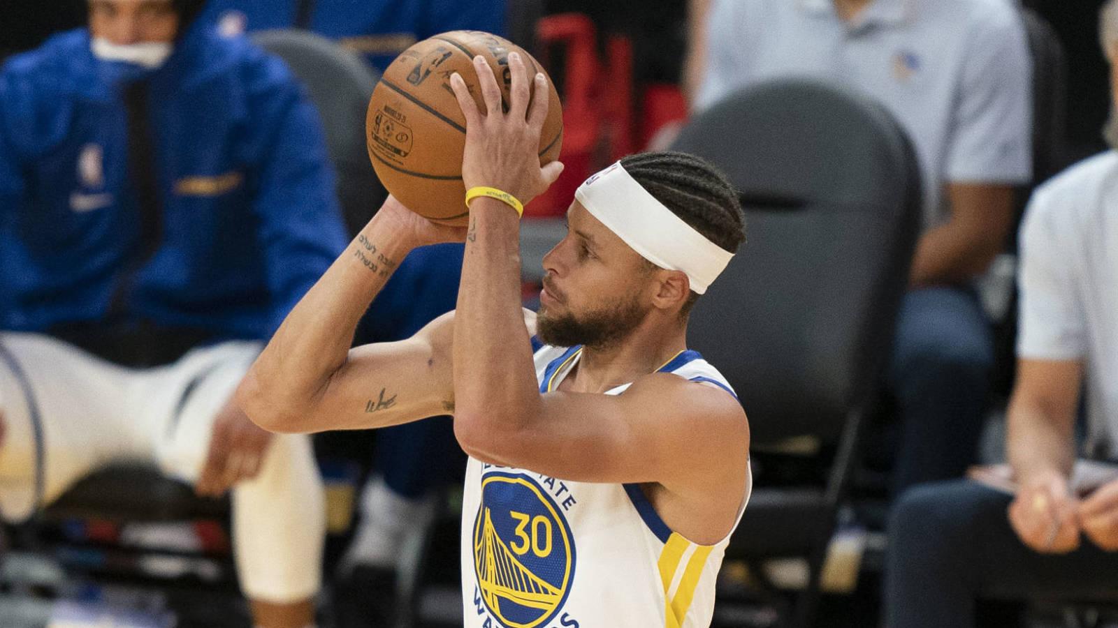 復出首秀有待調整!Curry上陣21分鐘外線僅7中2,玩看台遠投耗盡手感?(影)