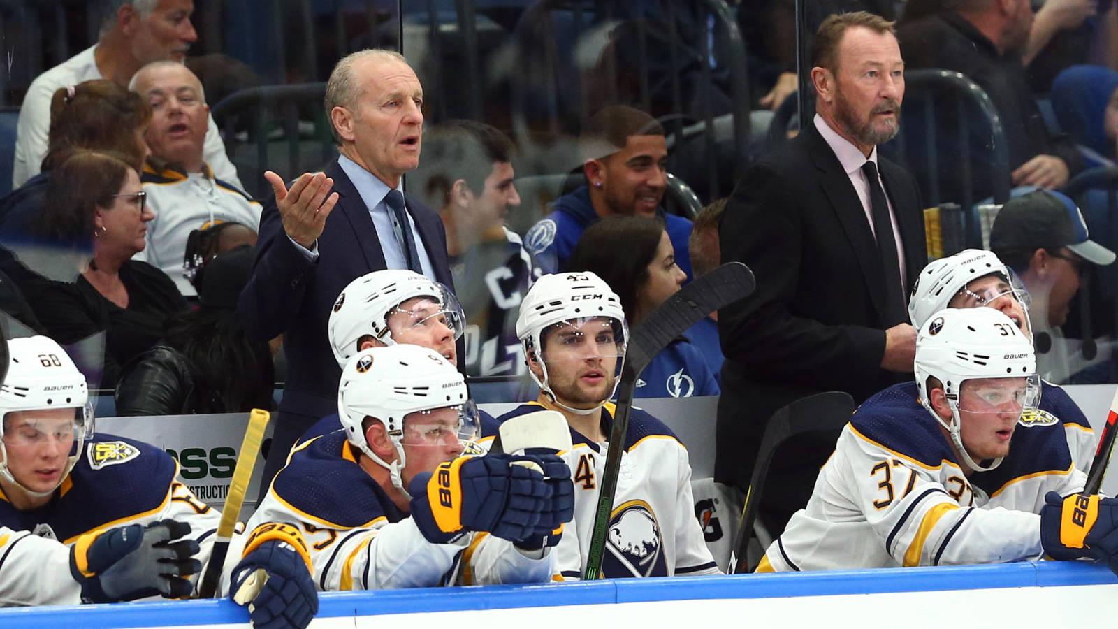Sabres Coaches Declined Pay Cut Team Considering Internal Salary Cap Yardbarker