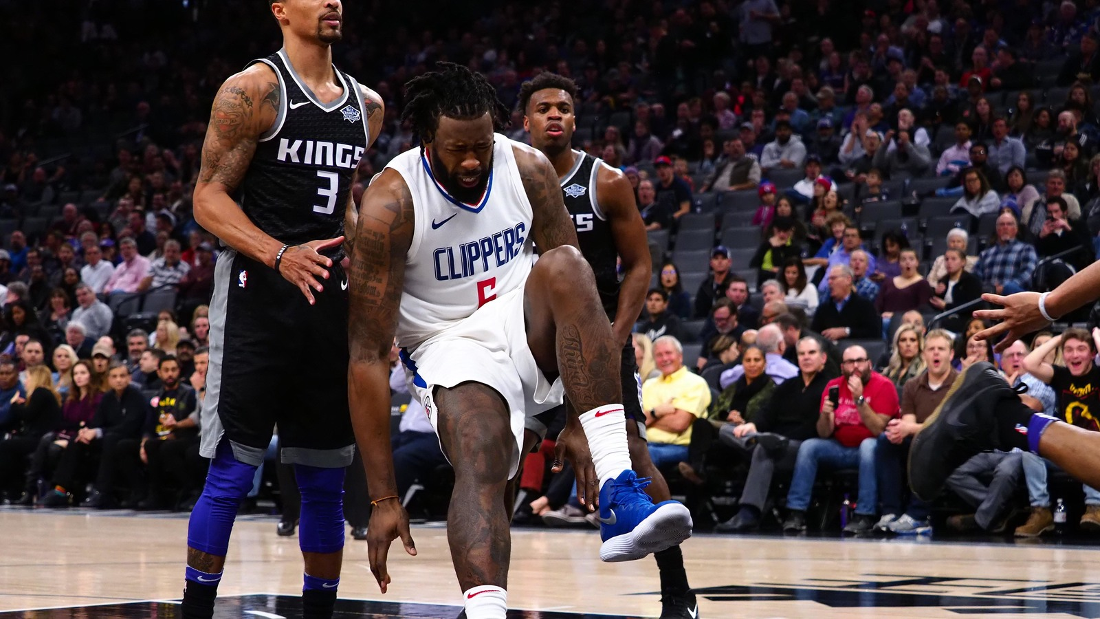 Jan 11 2018 Sacramento CA USA LA Clippers Center DeAndre Jordan 6 Comes Down After A Dunk Against The Kings During Second Quarter At