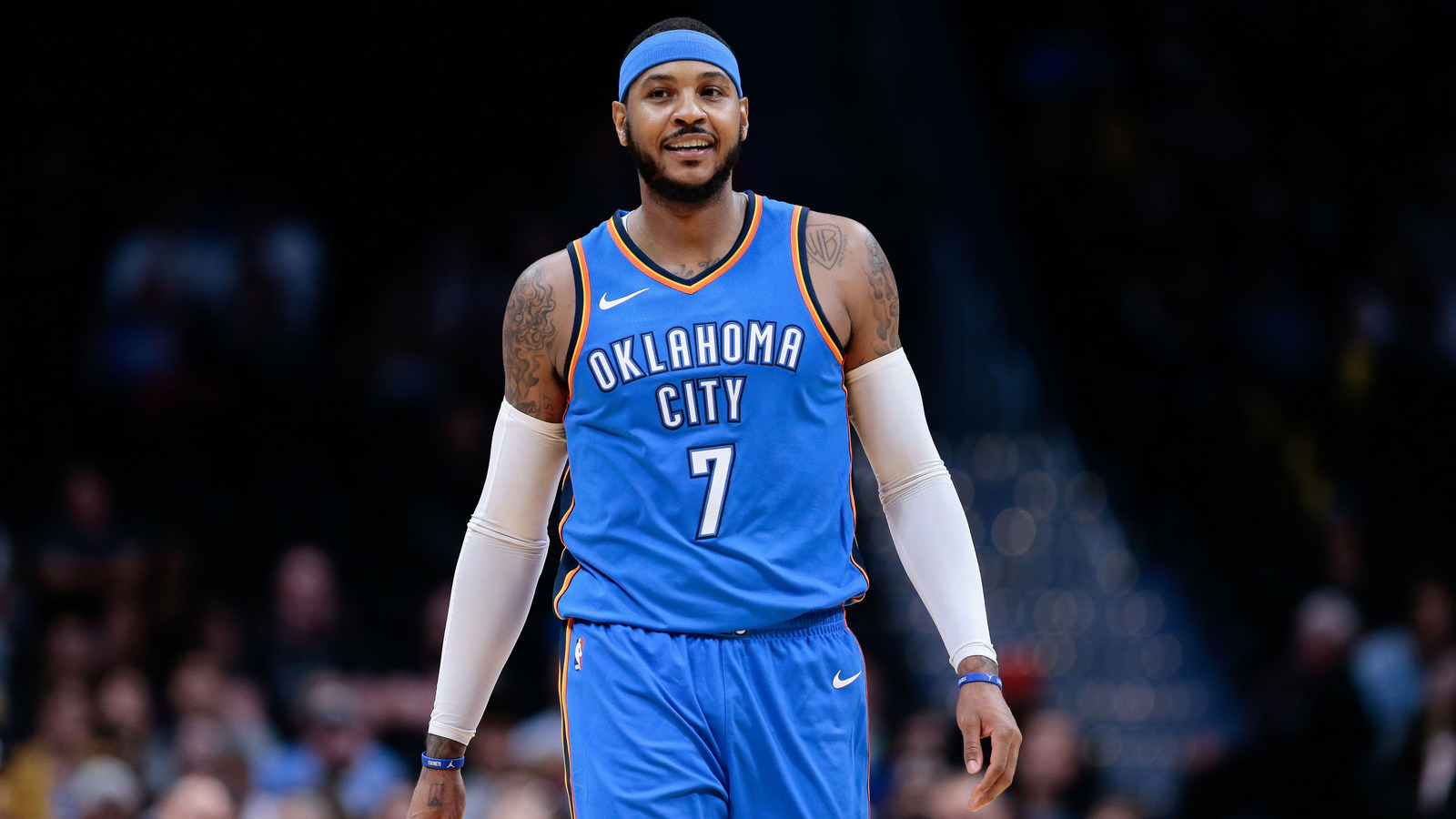 Carmelo anthony report about shoe line ending is false news isaiah j downing usa today sports voltagebd Images