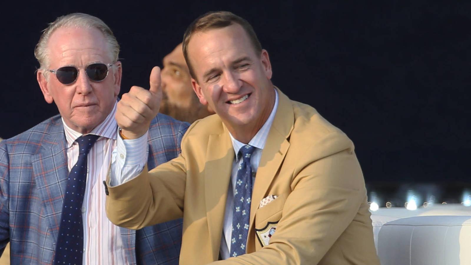 Peyton's got a great Ray Lewis, Tom Brady jokes during HOF speech