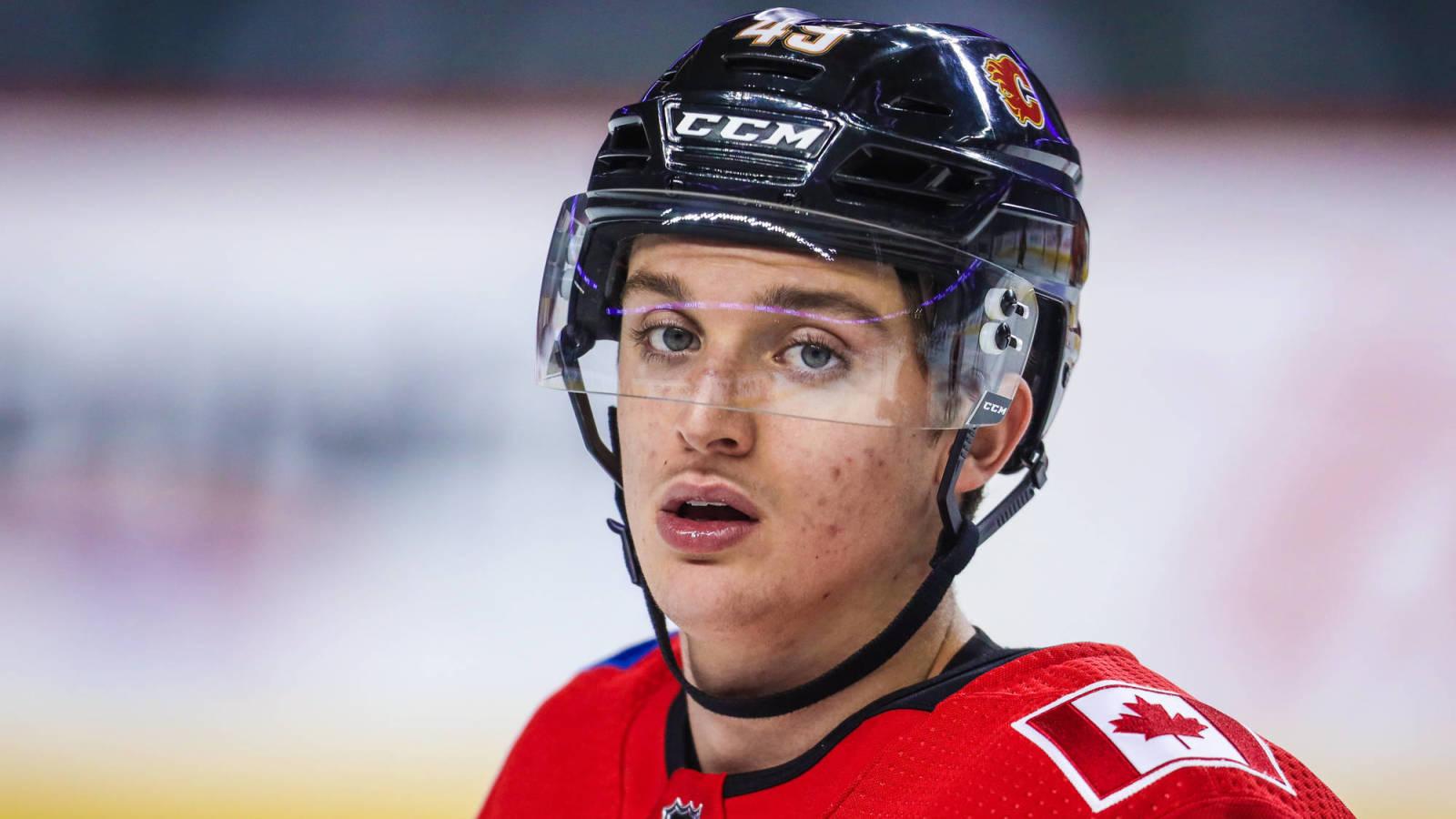 Flames prospect Jakob Pelletier has been dealt to Val-d'Or