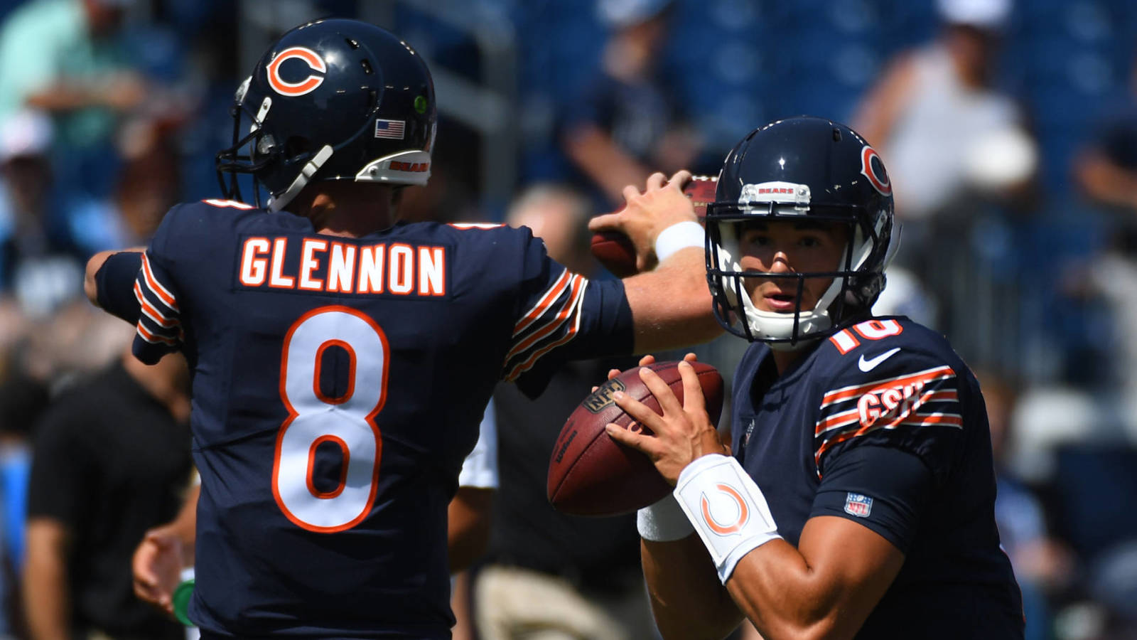 4e3aac08b2e Mike Glennon Bleacher Report Aug 27, 2017 Nashville, TN, USA Bears  quarterbacks Mike Glennon (8) ...