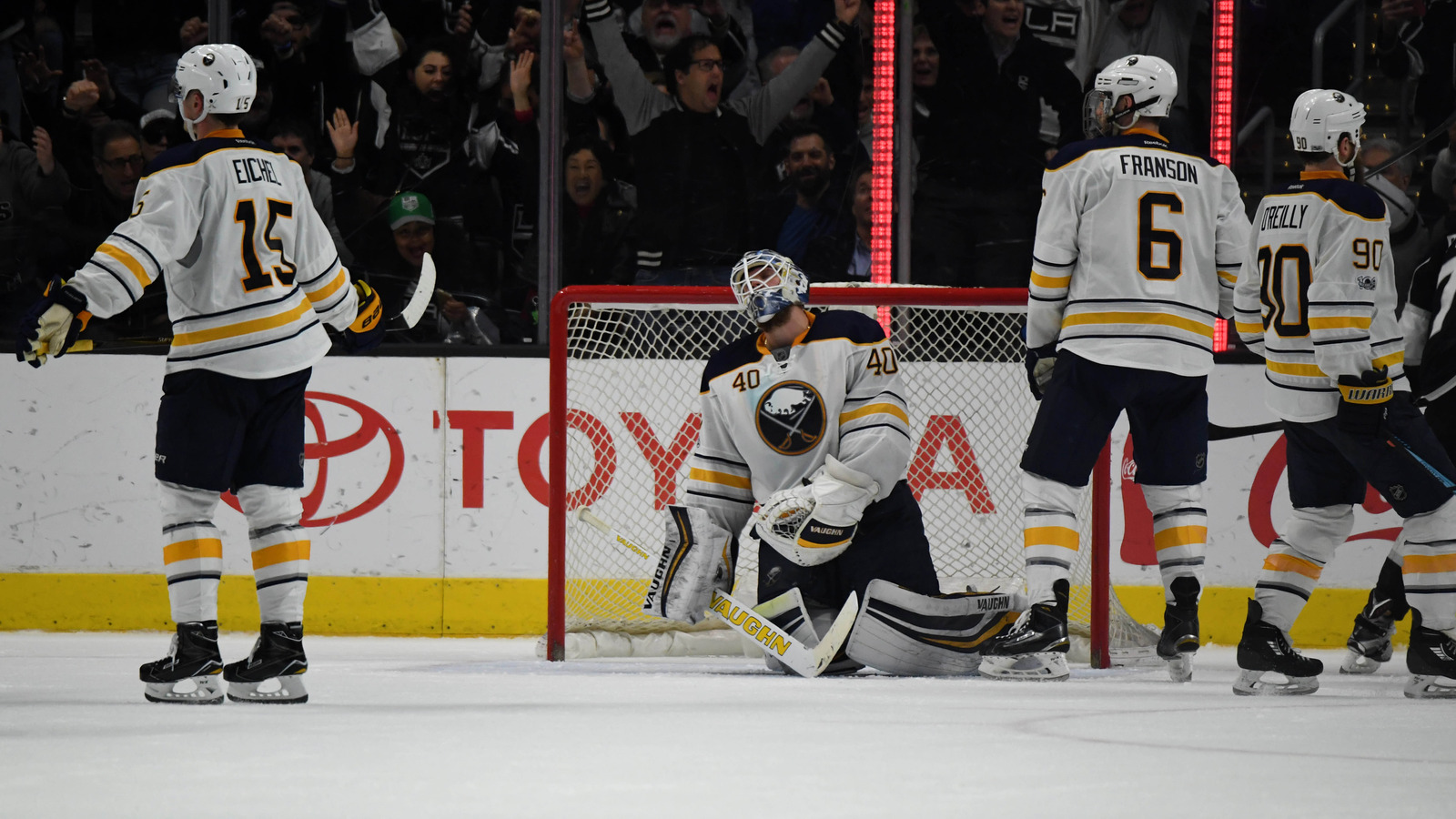 jack eichel ryan o reilly express frustration at pathetic it s been that kind of year in buffalo again kirby lee usa today sports
