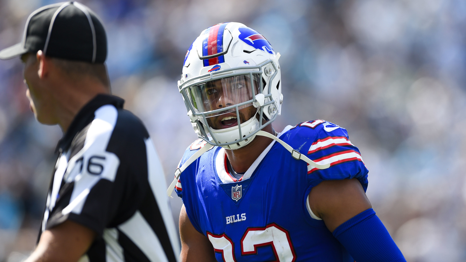 Buffalo Bills strong safety Micah Hyde was leaving the AFC Wild Card game  in Jacksonville to be evaluated for a concussion. Bob Donnan-USA TODAY  Sports