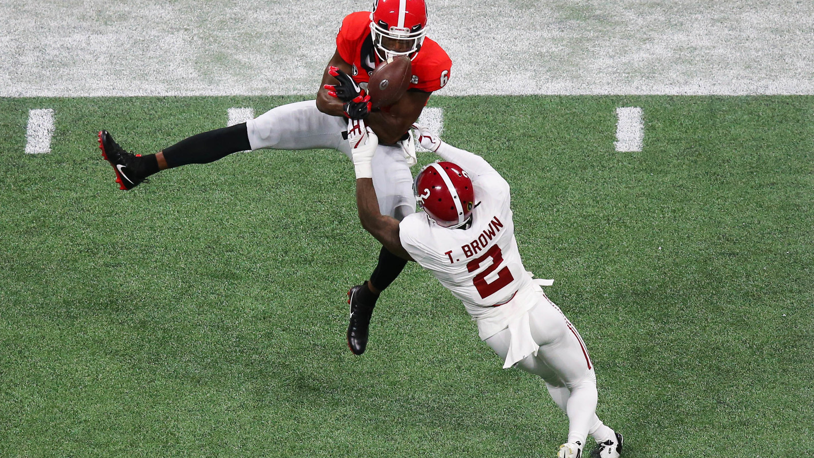 low priced b7d54 3f5f6 Tony Brown steals ball away from Georgia WR on interception ...