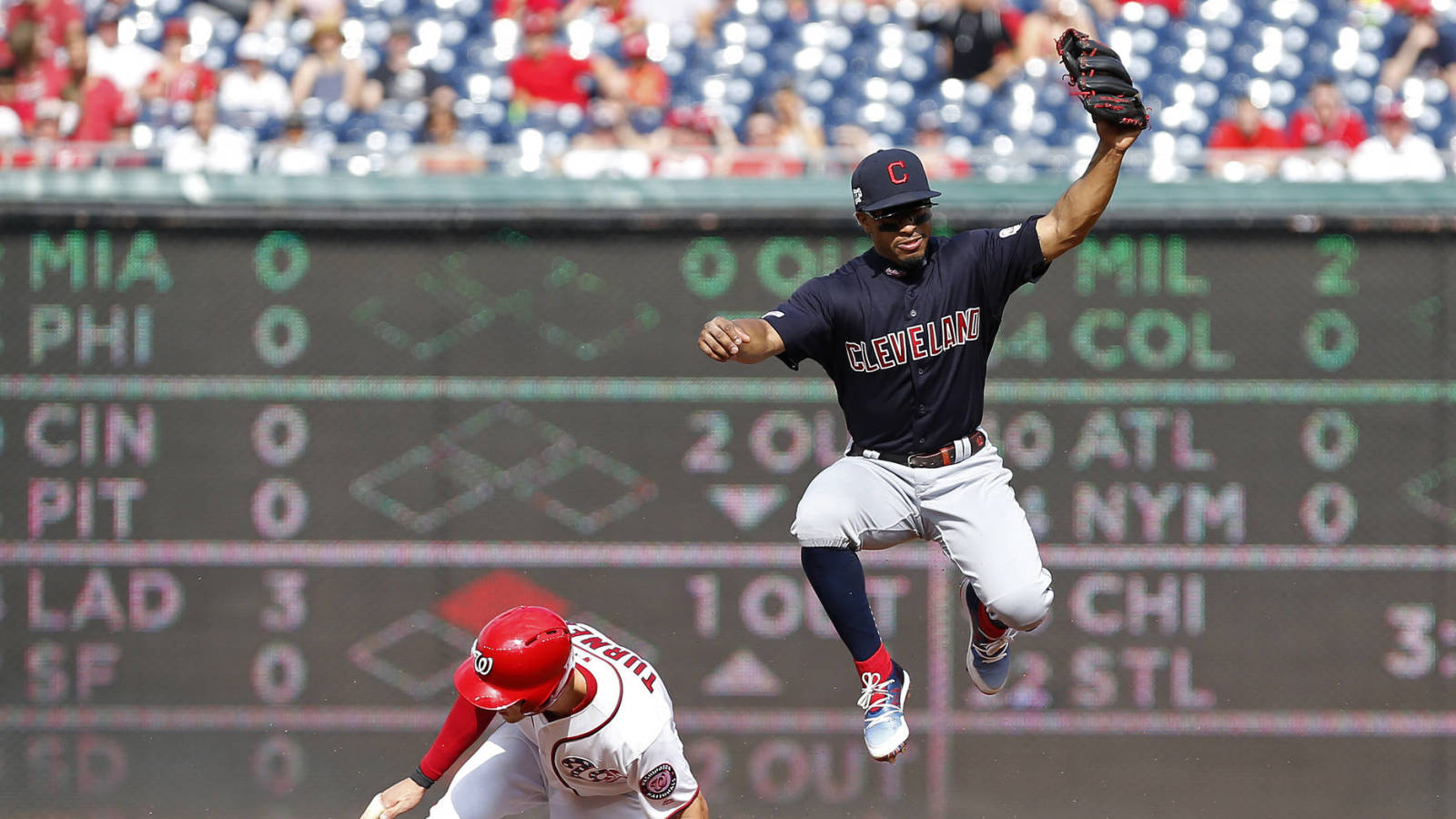 Watch: Indians' Francisco Lindor drills homer, somersaults across home plate