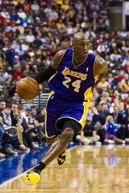 Dec 16, 2012; Philadelphia, PA, USA; Los Angeles Lakers guard Kobe Bryant (24) during the first quarter against the Philadelphia 76ers at the Wells Fargo Center. Mandatory Credit: Howard Smith-USA TODAY Sports...
