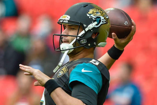 Oct 2, 2016; London, ENG; Jacksonville Jaguars Quarterback Blake Bortles  (5) Warms Up Before The Game Between The Jacksonville Jaguars And The  Indianapolis ...